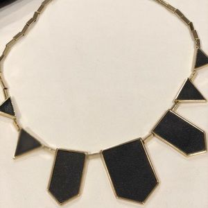 House of Harlow 1960 Jewelry - House of Harlow 5 station black leather necklace